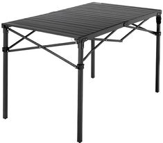 The perfect spot to plan your route, prep your meal or start a game of cards after a long day, the large Heavy-Duty roll-top table from Mountain Summit Gear is a must-have for your next camping trip. Available at REI, Satisfaction Guaranteed. Tire Table, Table And Chairs, Adjustable Height Table, Portable Table, Aluminum Table, Under The Table, Adventure Gear, Low Tables, Picnic Table