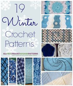 24 Winter Crochet Patterns | AllFreeCrochetAfghanPatterns.com ✿⊱╮Teresa Restegui http://www.pinterest.com/teretegui/✿⊱╮