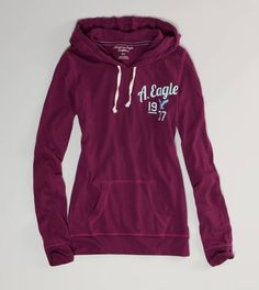 AE Lightweight Hooded Popover  i love american eagle hoodies. they're so comfy and not gigantic and just yes. aldksfj