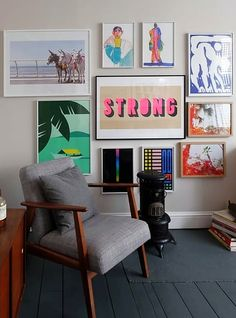 This lovely London home is kitted with lots of vintage furniture from antique markets and pieces inherited from family, but freshened up by contemporary artwork dotted throughout the house.