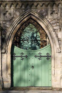 A door framed by a doorway, church near Regent's Park, UK by Pete Little, via Flickr
