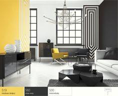 Żółty (miodowy) kolor wsalonie