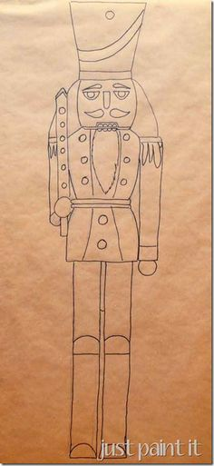 make a nutcracker from cardboard and cut into sections glue on pieces on shoe boxes and have team race to build nutcracker