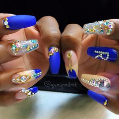 Nails acrilico verano 38 new Ideas Nails Now, 3d Nails, Nail Manicure, Glitter Nails, How To Do Nails, Acrylic Nails, Nail Designs Spring, Nail Art Designs, Sweet 16 Nails