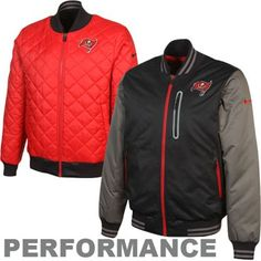 32cb9ade1 Nike Tampa Bay Buccaneers 2012 Sideline Destroyer Reversible Performance  Jacket - Black Red Swag