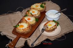 https://flic.kr/p/rtTovs | Double baked potato with eggs