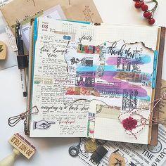 Week 32  Incoming mails from @ngohi @misaramen  #midori #travelersnotebook…