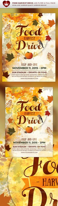Use our editable flyer to get families involved in your canned - can food drive flyer template