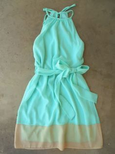 Gorgeous mint breezy shoreline dress fashion