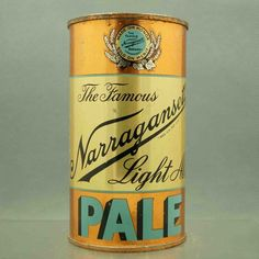 Narragansett Pale 100-14 flat top beer can