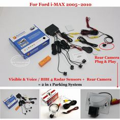 For Ford i-MAX iMax i Max 2005~2010 - Car Parking Sensors + Rear View Back Up Camera = 2 in 1 Visual Alarm Parking System #Affiliate