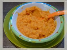 Babybrei mit Süßkartoffeln, Möhren und Kartoffeln eignet sich schon für das Baby ab dem 5. Monat und ist durch seinen süßen Geschmack sehr beliebt
