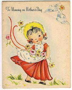 So cute! #vintage .Voor alle moeders..veel plezier op Moederdag xxx