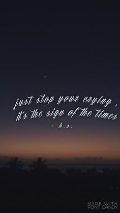 sign of the times • harry styles •