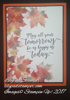 Stampin Up Colorful Seasons, Baby Wipe Technique
