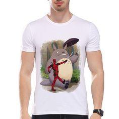 Summer Funny Cartoon Character Printed T-Shirt Short Sleeve O-Neck Modal Hipster Tops Tees