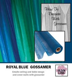 royal blue gossamer fabric for swagging on tables ceilings covering walls and - Gossamer Fabric