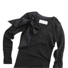 Black long sleeve top retro bow valentino influence by tratgirl55, $24.99