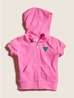 GUESS Kids Girls Short Sleeve Terry Hoodie $39.50