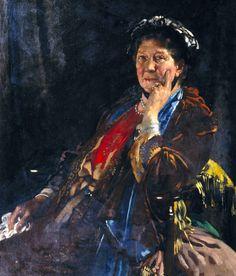 The Athenaeum - Dame Madge Kendal (Sir William Orpen, R.A., R.H.A. - )