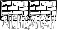 1000 images about bible nehemiah on pinterest jerusalem for Nehemiah coloring page