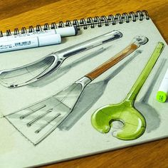 Still thinking within the kitchen, this time I've used a toned grey sketchbook to create a three course meal! I find the toned grey nice as it gives your sketch a background while also allowing you to get some super nice shading. #id #doodle #industrialdesign #idsketch #idsketching #designsketching #design #dinnertools#3coursemeal #sketchzone