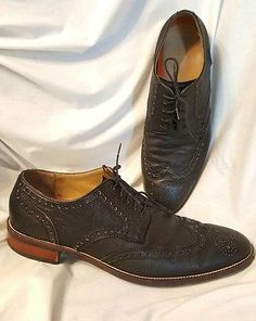 Cole Haan mens shoes sz 10.5 M Warren Welt wingtip oxford Brouges black  grand.os