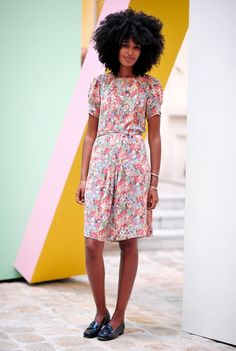 afro and easy dress