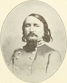 Maj. Gen. George Pickett (1825-1875). He served alongside Longstreet in the 8th U.S. Infantry Regiment in Mexico; taking the flag from him after he was wounded at Chapultepec. During the civil war he would become a brigade commander and then, with very mixed results, a division commander under Longstreet.