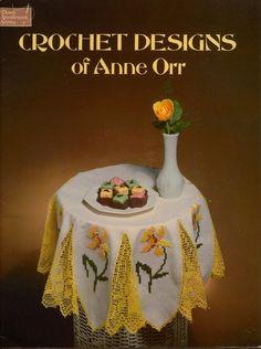 Dover Crochet Designs Anne Orr 75 Patterns Edgings Baby Irish Yoke Doily 1978 #DoverNeedleworkSeries