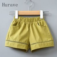 Hurave 2 Colores Baby Girl White & Yellow Cothing Casual Pantalones Cortos de Cintura de Los Niños del Verano Pantalones Casuales Chicas Baby Girl Fashion, Kids Fashion, Baby Girl Dress Patterns, Kids Frocks Design, Girls Formal Dresses, Chor, Girls Rompers, Boy Outfits, Clothes