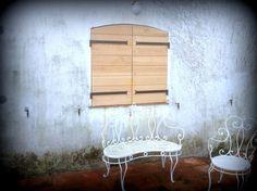 Volets en bois exotique sipo design pur r alisation saint tropez menuiserie minier - Brise vue ontwerp ...