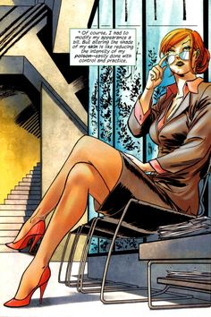Poison Ivy disguising herself as just Pamela Isley