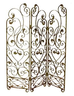 Wrought Iron Room Divider Screen