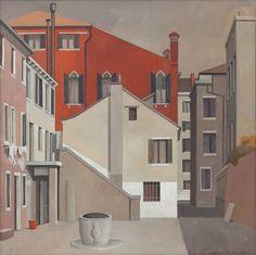 Andreas His (Swiss, 1928-2011)   Venice, calle de le Canne, 2002/2003  Oil on canvas, 70 x 70 cm