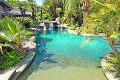 beach entrance pool! seriously i could have a small nice house as long as this came with it!!!!!!