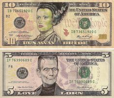 Monsterously creative...James Charles turns US currency into art.