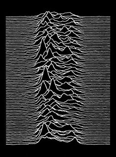 Joy Division punk Poster Unknown Pleasures Ian Curtis 23 x