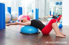 Never used a bosu ball before?  Now is the time to start!  Bosu You Way to Fit with these great workout ideas #skinnyms #gethealthy #fitness