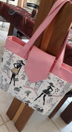 Sac Madison en rose et imprimé Paris cousu par Titi - Patron Sacôtin