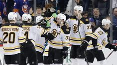 3 takeaways: Patrice Bergeron and Bruins snap OT drought in a thrilling win over the Islanders Brad Marchand, Jack Edwards, Patrice Bergeron, Boston Bruins Hockey, Blue Liner, First Period, Nhl Games, New York Islanders, T Lights