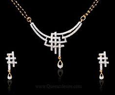 American Diamond Mangalsutra [QDIAD025A]