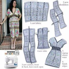 New diy fashion clothing easy fabrics 49 ideas Trendy Dresses, Simple Dresses, Sewing Clothes, Diy Clothes, Dress Patterns, Sewing Patterns, Creation Couture, Mode Inspiration, Dressmaking