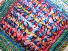 Hodvábna šatka, Hand painted silk