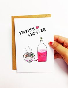 Best friend card funny birthday card for friend by LoveNCreativity