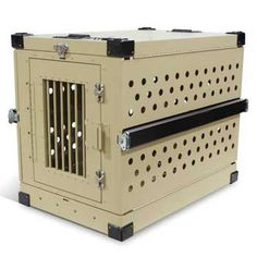 Military Working Dog Crate Collapsible Tan Dog Crate