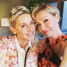 """""""Portia and I constantly say to each other, 'We are so lucky,'"""" Ellen Degeneres"""