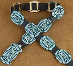 Genuine-Arizona-Sleeping-Beauty-Turquoise-Cluster-Sterling-Silver-Concho-Belt