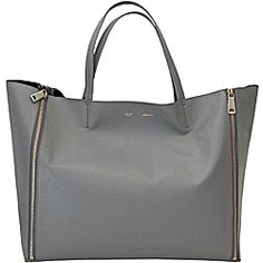 CÉLINE HORIZONTAL GUSSET CABAS in Grey. The perfect bag for the working mom with lots and lots of room and all the sleek minimalism of Celine. Plus, love the color!