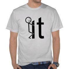 Screw It Funny Stick Figure Mens T-shirt
